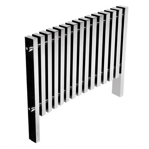 Abacus Kolonna Square Designer Radiator - 800mm x 975mm - Polished Stainless Steel